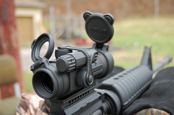 Aimpoint PRO Attached to M4 Rifle