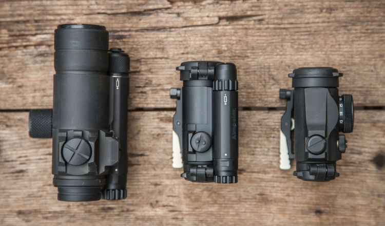 Aimpoint Comp M5 size comparison to M4 and Micro