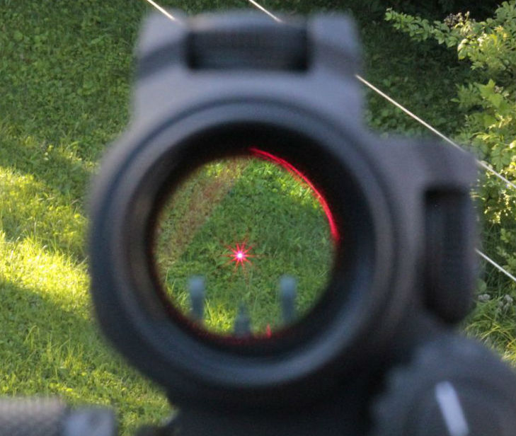 Using Red Dot Sight on a firearm