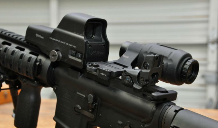 EOTech G33 Magnifier Attached to an AR