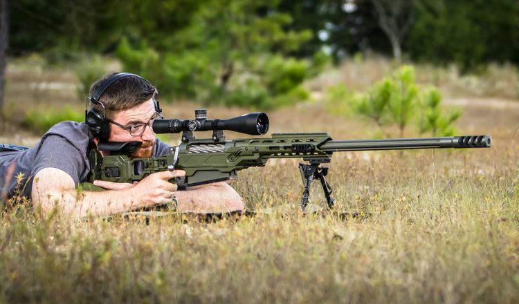 Nightforce NXS 5.5-22x56 On a Rifle