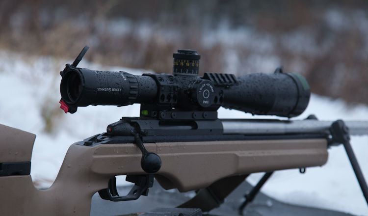 Shmidt and Bender PM II 5-25x56 On a Rifle
